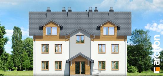 Elewacja frontowa projekt dom nad bulwarem 3  264