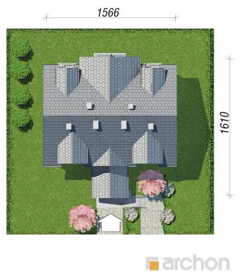 projekt Dom nad bulwarem 3 sytuacja