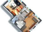 projekt Dom nad bulwarem 3 Strefa dzienna (wizualizacja 1 widok 1)