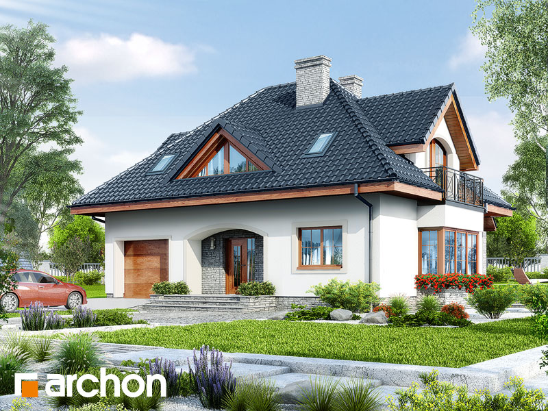 gotowy projekt Dom w koniczynce 5 widok 1