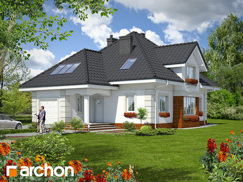 projekt Dom w agreście widok 1
