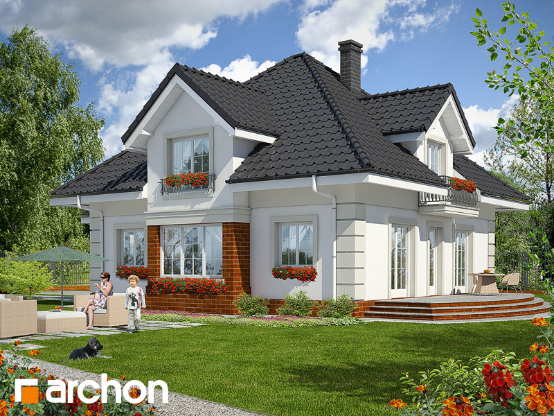 gotowy projekt Dom w agreście widok 2