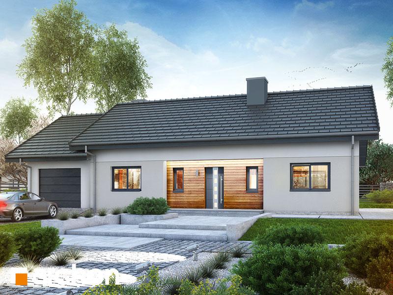 gotowy projekt Dom w kostrzewach (G) widok 1
