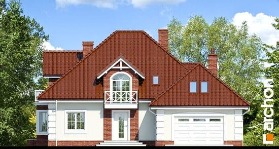 Elewacja frontowa projekt dom w nagietkach 2  264