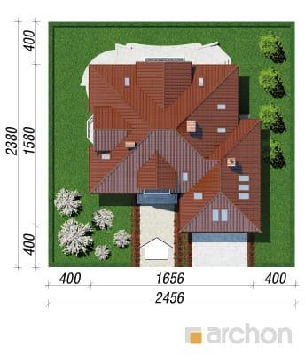 projekt Dom w nagietkach 2 sytuacja