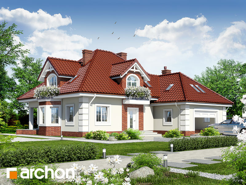gotowy projekt Dom w nagietkach 2 widok 1