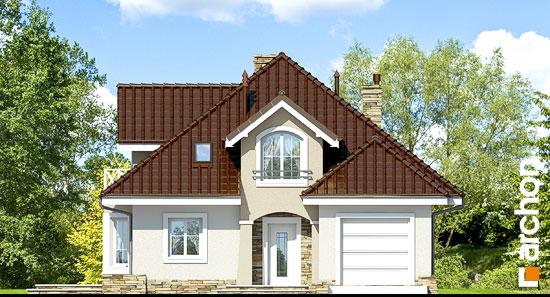 Elewacja frontowa projekt dom w firletkach  264