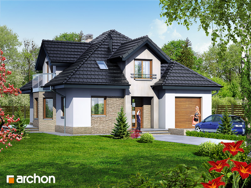 Projekt Domu Dom W Firletkach Archon