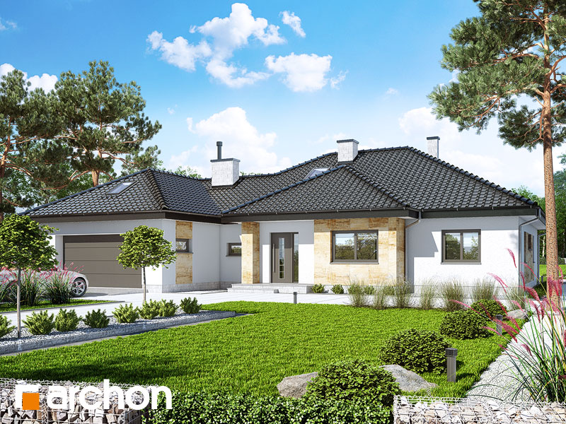 gotowy projekt Dom w akebiach 5 widok 1