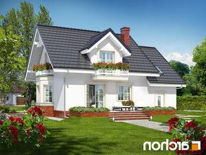 projekt Dom w rododendronach 15 lustrzane odbicie 2