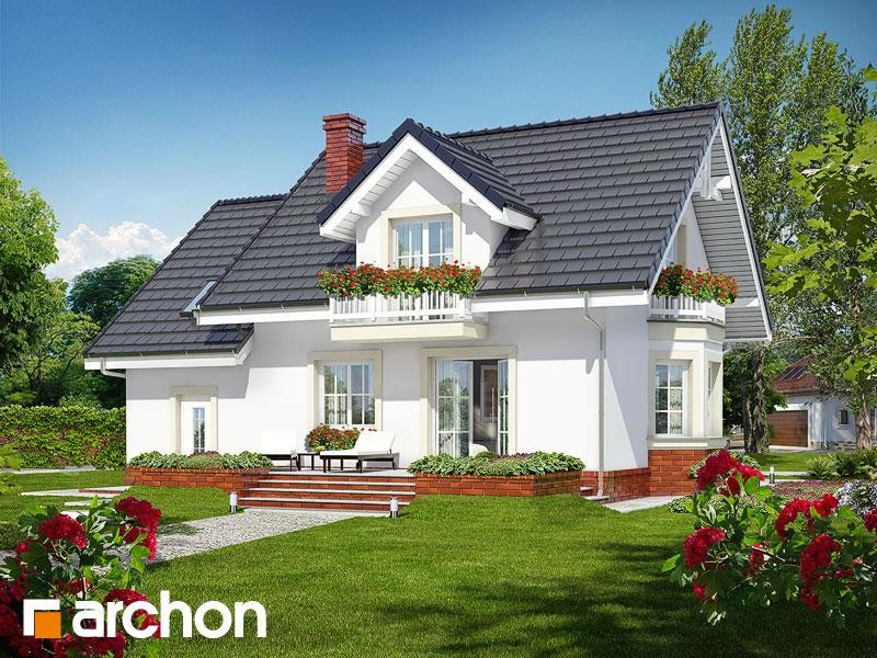 gotowy projekt Dom w rododendronach 15 widok 1