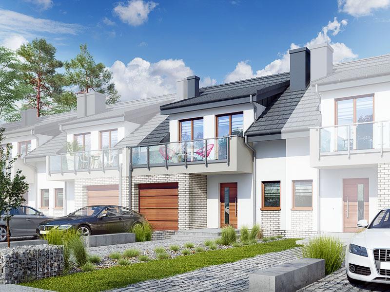 gotowy projekt Dom w klematisach 20 (SA) widok 1