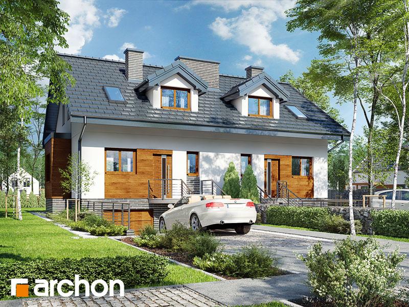 gotowy projekt Dom w cyklamenach 4 (PR2A) widok 1