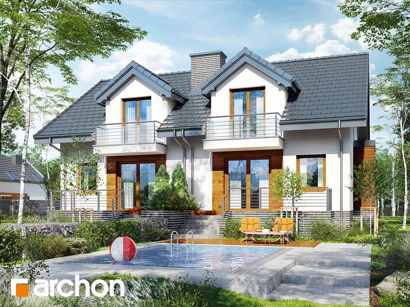gotowy projekt Dom w cyklamenach 4 (PR2A) widok 2