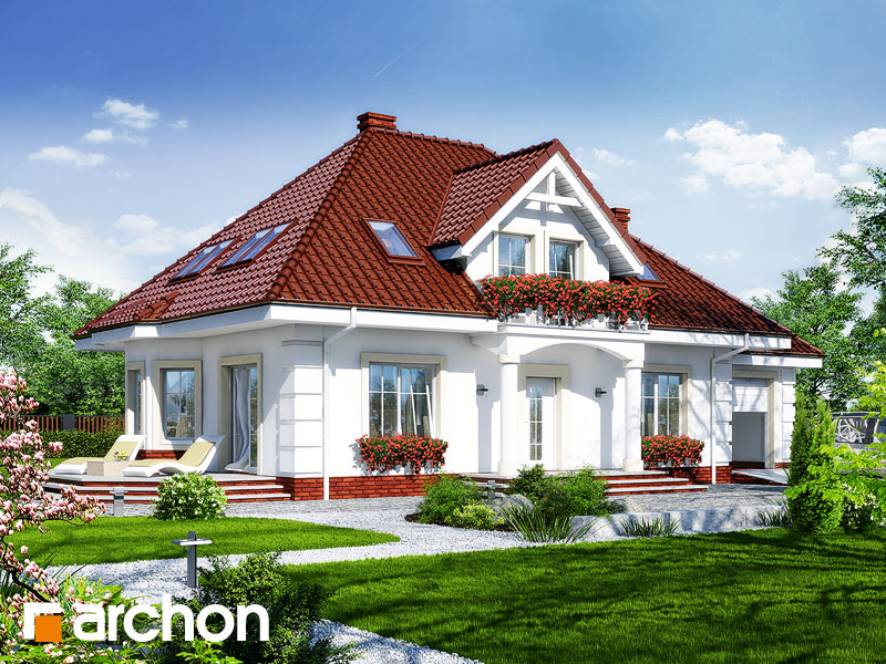 gotowy projekt Dom w aksamitkach 3 widok 1