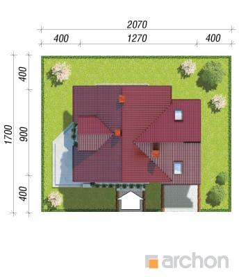 projekt Dom w rododendronach 3 (G) sytuacja