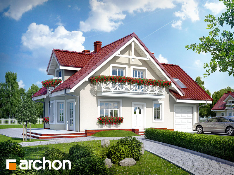 gotowy projekt Dom w rododendronach 3 (G) widok 1