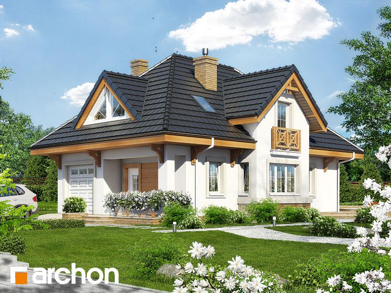 gotowy projekt Dom w fuksjach 3 widok 1