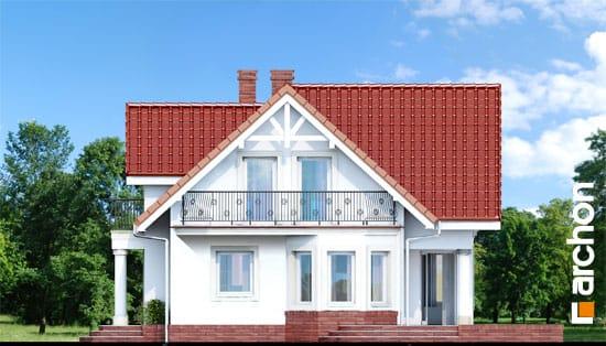 Elewacja boczna projekt dom w kosowce  265