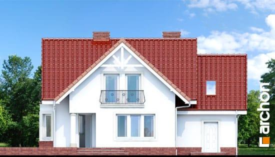 Elewacja ogrodowa projekt dom w kosowce  267