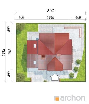 projekt Dom w kosówce sytuacja
