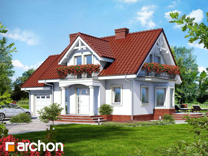 projekt Dom w kosówce widok 1