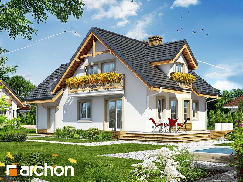 gotowy projekt Dom w rododendronach 7 widok 1