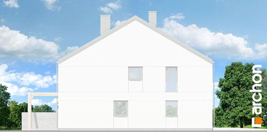 Elewacja boczna projekt dom pod milorzebem 12 gb  266