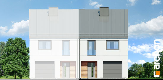 Elewacja frontowa projekt dom pod milorzebem 12 gb  264