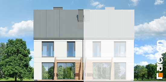 Elewacja ogrodowa projekt dom pod milorzebem 12 gb  267