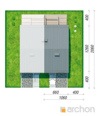 projekt Dom pod miłorzębem 12 (GB) sytuacja