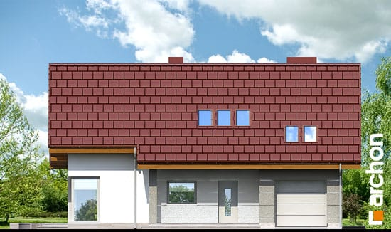 Elewacja frontowa projekt dom w wisteriach 2 ver 2  264