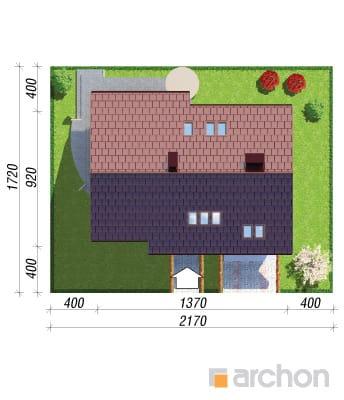 projekt Dom w wisteriach 2 sytuacja