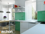 projekt Dom w koniczynce 3 Aranżacja kuchni 1 widok 3