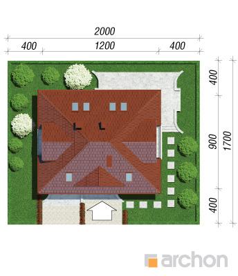 projekt Dom w koniczynce 3 sytuacja