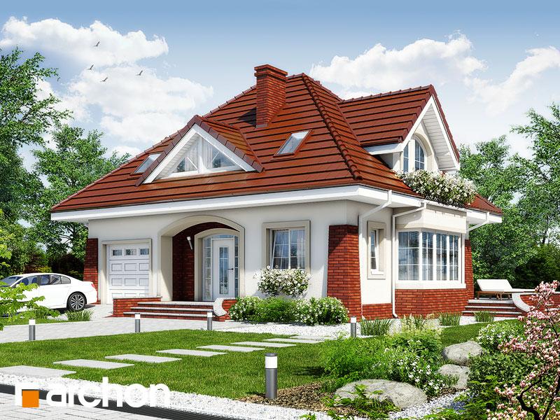 gotowy projekt Dom w koniczynce 3 widok 1