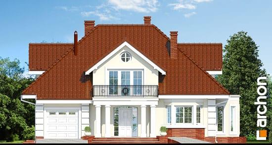 Elewacja frontowa projekt dom w wiciokrzewie  264