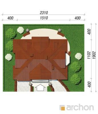 projekt Dom w wiciokrzewie sytuacja