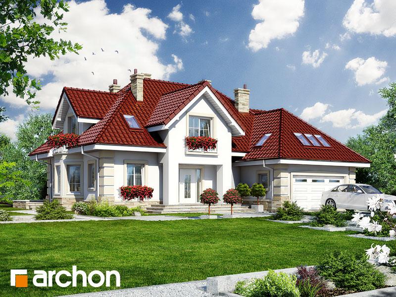 gotowy projekt Dom w cynamonie widok 1