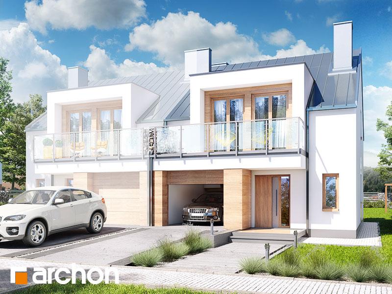 gotowy projekt Dom w klematisach 22 (B) widok 1