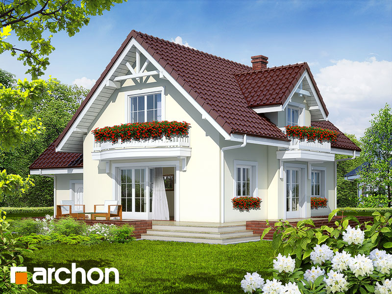 gotowy projekt Dom w antonówkach 2 (G) widok 1
