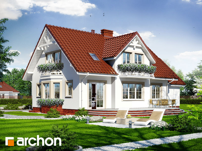 gotowy projekt Dom w magnoliach 2 (P) widok 1