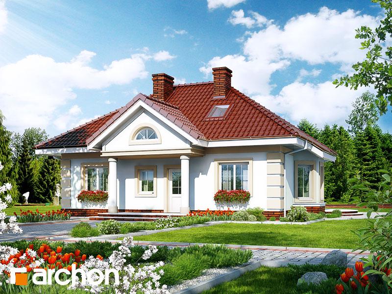 projekt Dom w jeżynach 3 widok 1