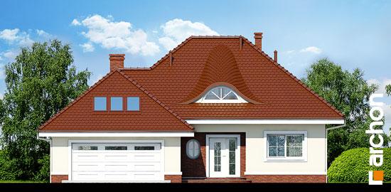 Elewacja frontowa projekt dom w arbuzach  264