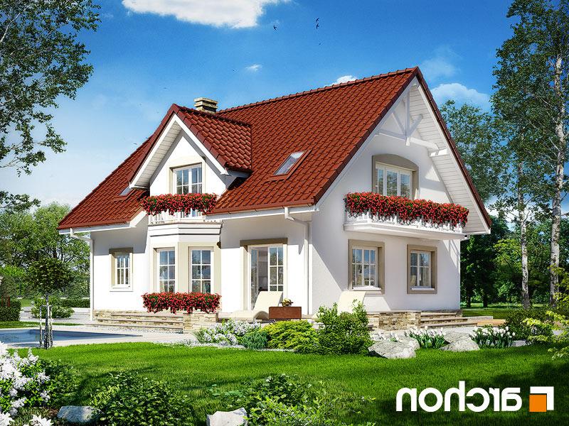 Lustrzane odbicie 2 projekt dom w swietliku  290lo
