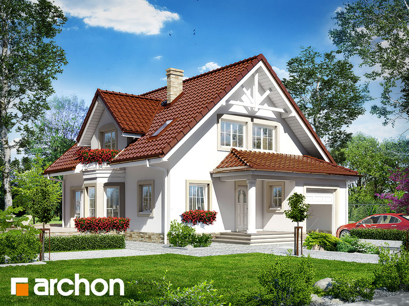 gotowy projekt Dom w świetliku widok 1