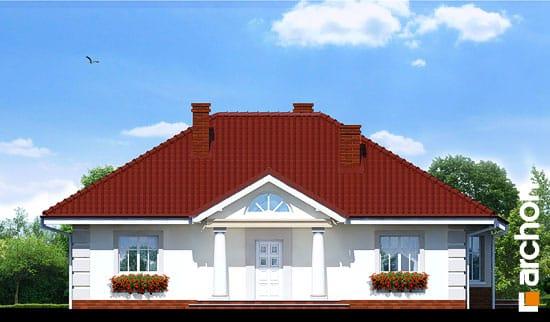 Elewacja frontowa projekt dom pod jarzabem ver 2  264