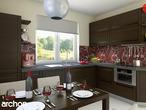 projekt Dom pod jarząbem Wizualizacja kuchni 1 widok 1