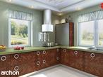 projekt Dom pod jarząbem Wizualizacja kuchni 2 widok 1