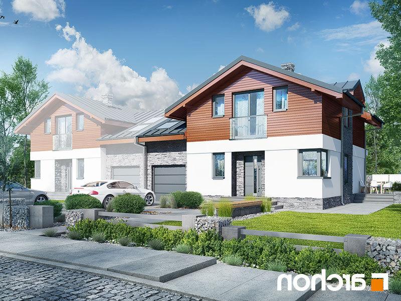 Lustrzane odbicie 1 projekt dom w budlejach ab  289lo
